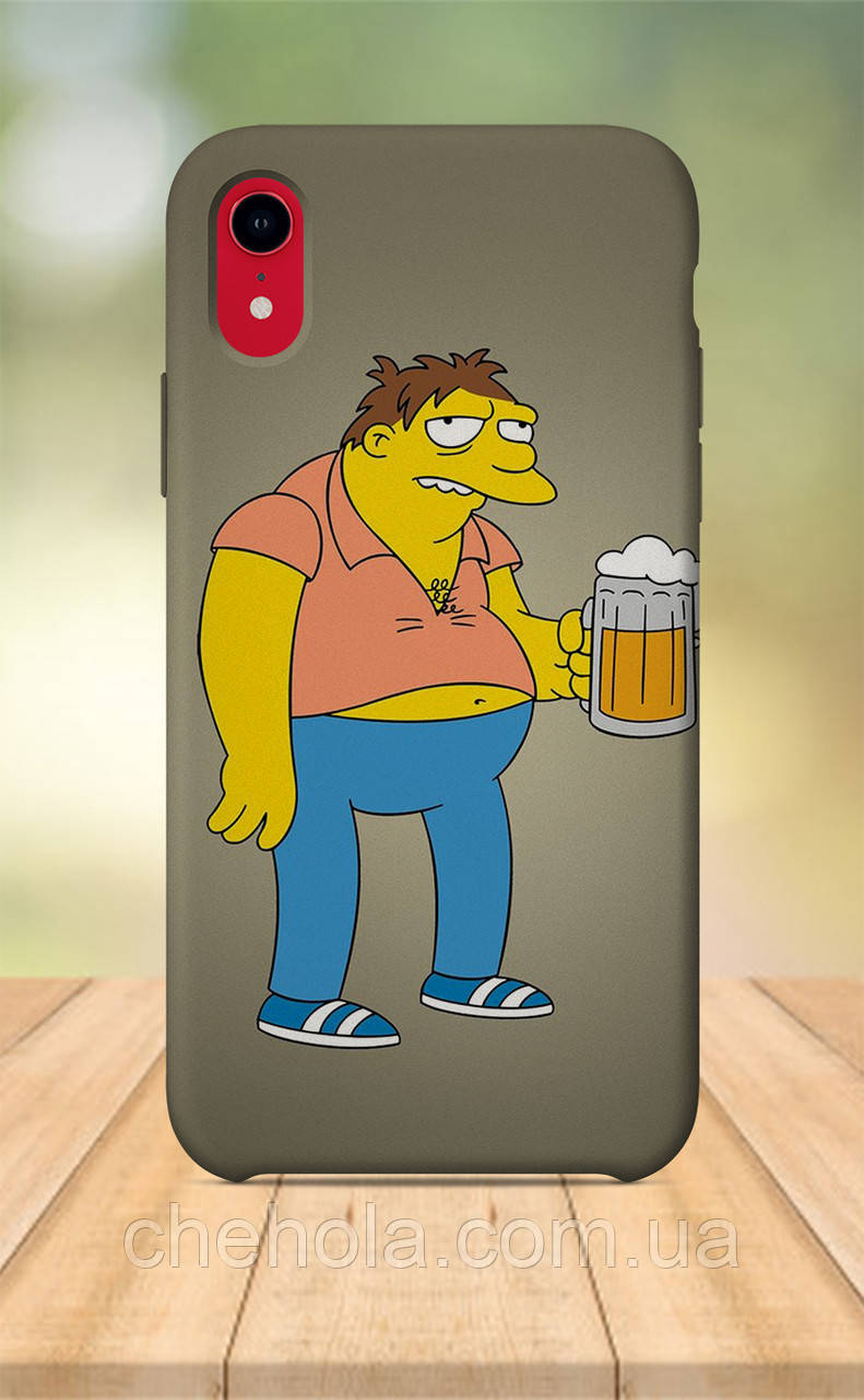 Чехол для apple iphone xr с принтом Мультфильмы Барни Симпсоны
