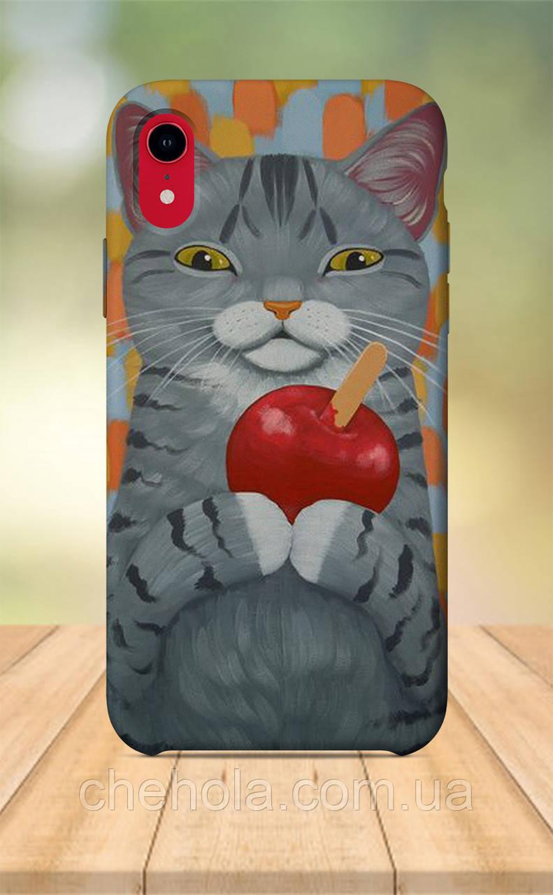 Чохол для apple iphone xr з принтом Тварини Сірий кіт