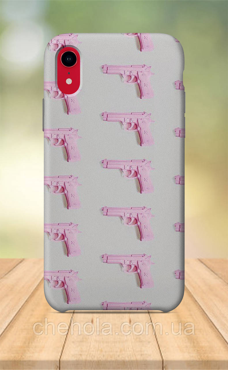 Чохол для apple iphone xr з принтом Милі Для Дівчаток Рожевий пістолет