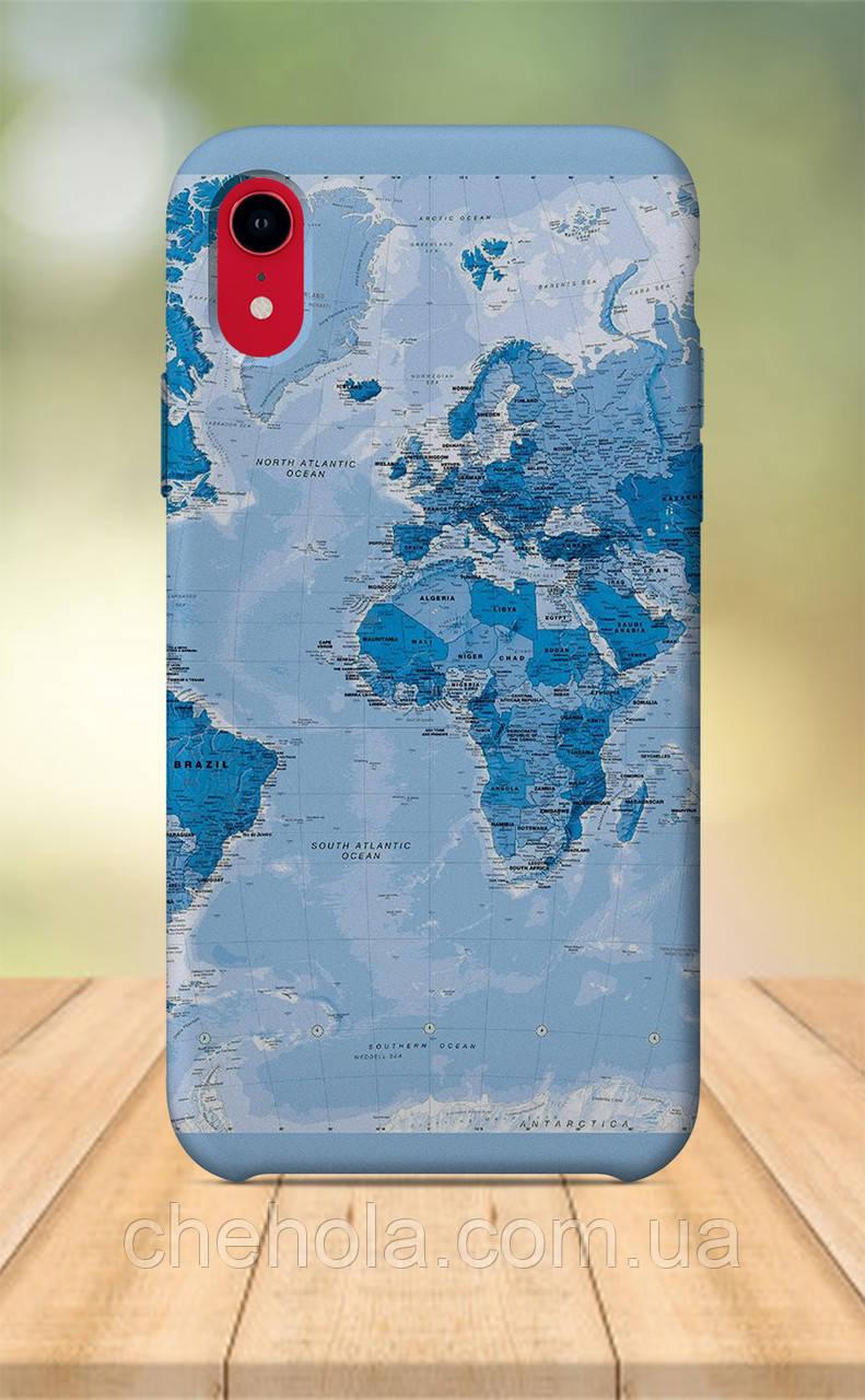 Чехол для apple iphone xr с принтом Путешествия Архитектура Карта Мира