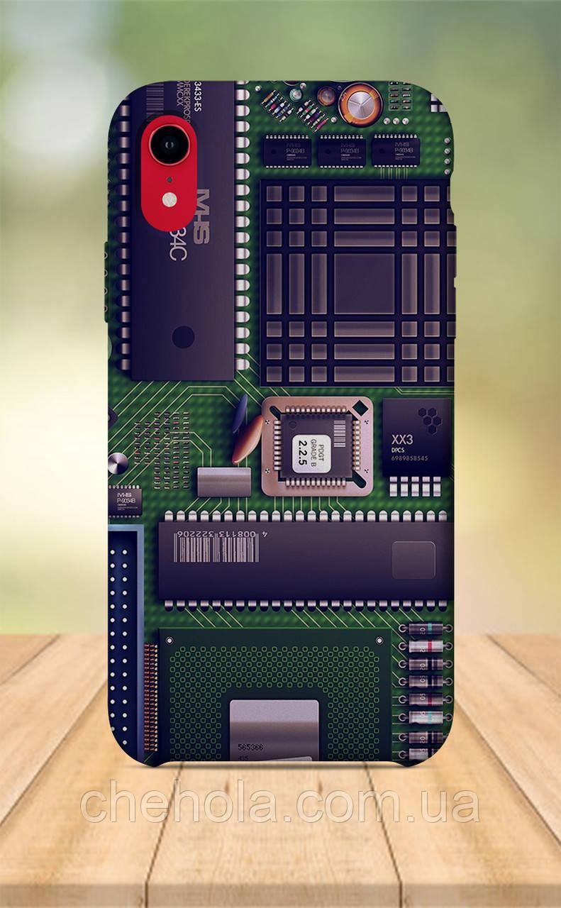 Чохол для apple iphone xr з принтом Електроніка Електронна схема