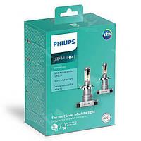 Комплект диодных ламп PHILIPS 11342ULWX2 H4 Ultion +160% 6200K, фото 1