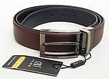 Двухсторонний мужской ремень Alon черный / коричневый, фото 3