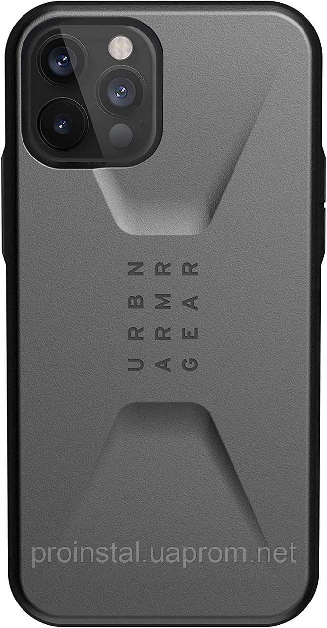 Чохол UAG для iPhone 12 / 12 Pro Civilian, Silver
