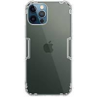 Ультратонкий защитный силиконовый чехол для Apple iPhone 12 Pro Max (Бесцветный-Прозрачный / Nillkin)