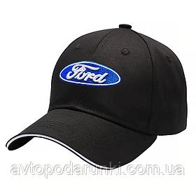 Кепка FORD черная, бейсболка с лотипом авто  ФОРД