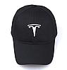 Кепка TESLA черная, бейсболка с лотипом авто  ТЕСЛА, фото 3