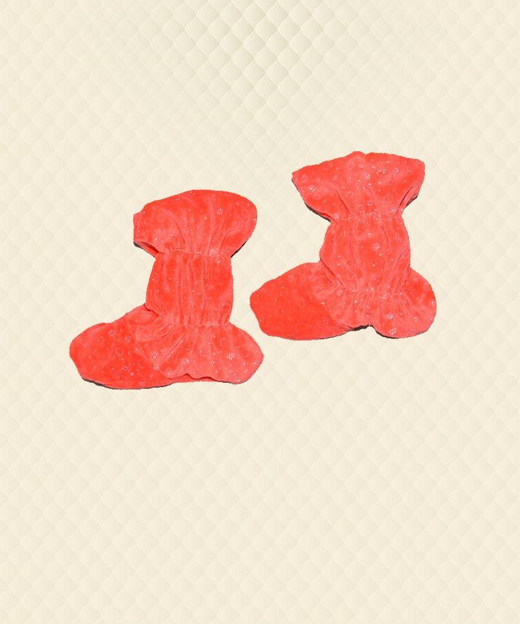 Чобітки дитячі червоні (16 см) велсофт