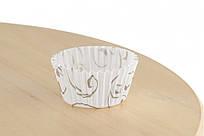 Паперова форма для цукерок 3b (30х24), біла з золотим