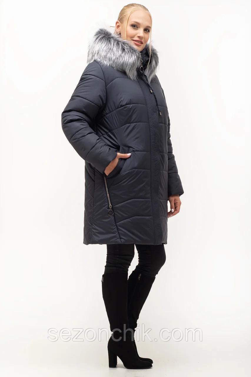 Зимняя женская куртка с мехом от производителя