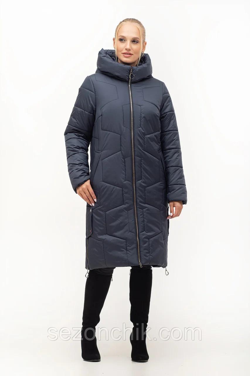 Зимнее женское пальто с натуральным мехом новинка