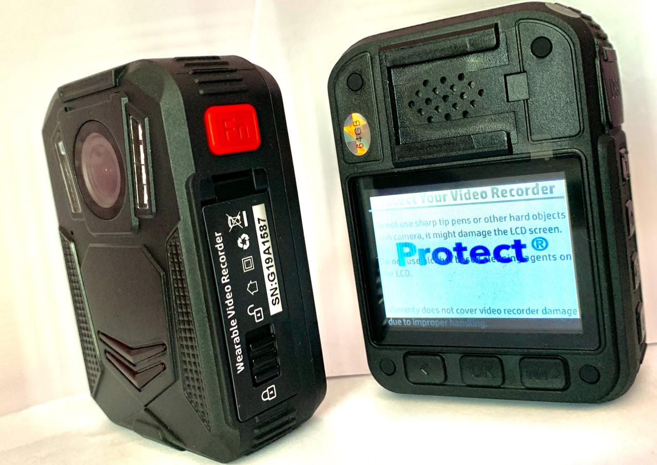 Видеорегистратор нагрудный Protect R02-A 64Gb Онлайн WiFi,(STA,AP) GPS,2021 г.в.