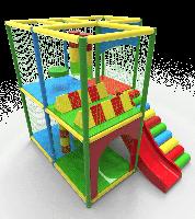 Детский многоуровневый игровой Лабиринт Мармелад с горкой для городских парков и детских центров 305х240х270см