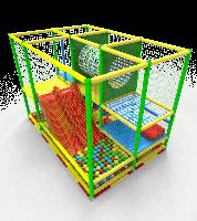Детский многоуровневый Лабиринт Тоннель с горкой и сухим бассейном для парков и детских центров 352х235х250 см