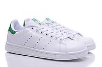 Женские кроссовки Adidas Stan Smith white-green, фото 1
