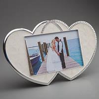 """Рамка для фото """"2 сердца"""" свадебная"""