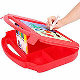 Crayola Набір для творчості 85 предметів у валізці червоний Ultimate Art Case with Easel, 85 Pieces, фото 5
