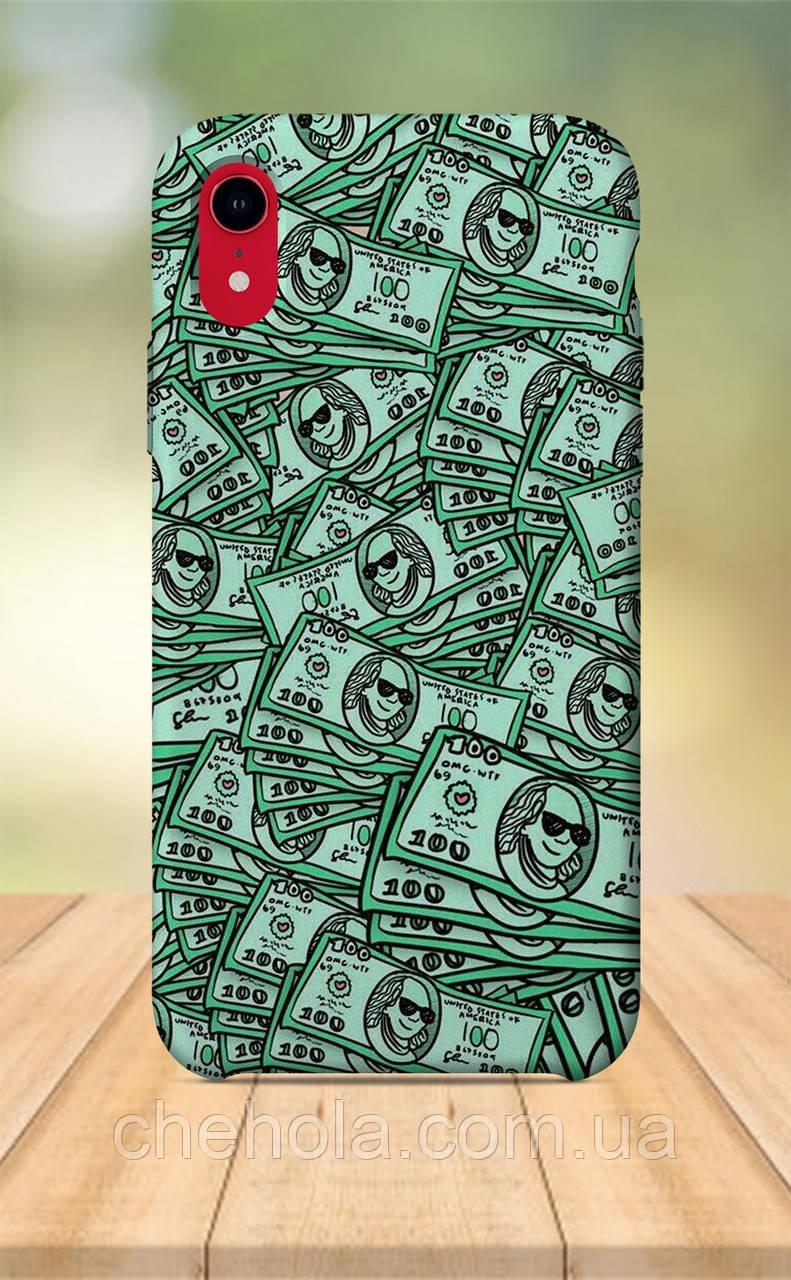 Чехол для apple iphone xr с принтом Стильные 100$ Франклин