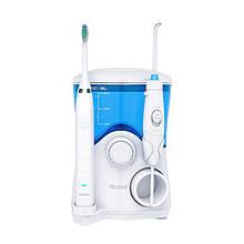 2 в 1 Стационарный Ирригатор Professional 7 насадок + электрозвуковая зубная щетка 5 режимов Nicefeel (111)