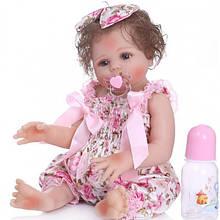 Силиконовая коллекционная кукла Reborn Doll Девочка Регина 47 см (204)