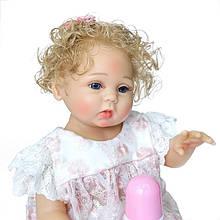 Силиконовая коллекционная кукла Reborn Doll Девочка Бэлла 47 см (205)