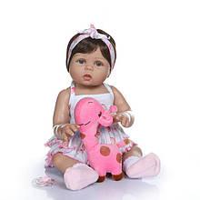 Силиконовая коллекционная кукла Reborn Doll Девочка София 47 см (211)