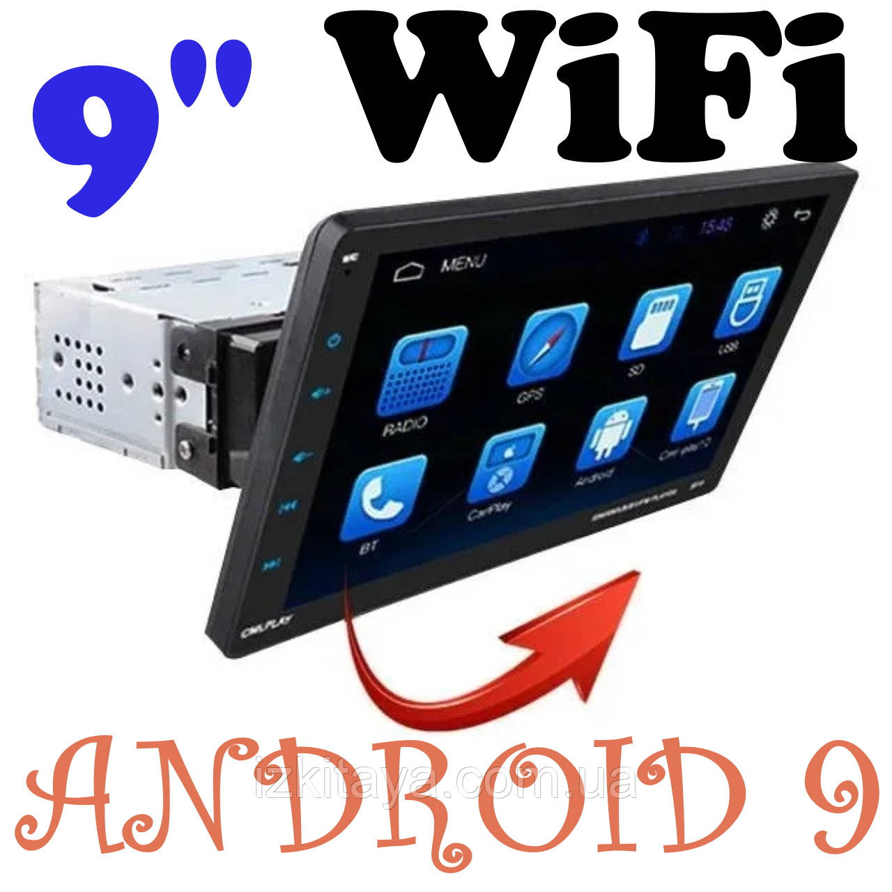 "Автомагнитола пионер Pioneer 9010A 1din 9"" Android 9.0 GPS + WiFI + Bluetooth Съемный экран"