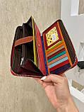Женский кожаный кошелёк на молнии Trend красный КТ55, фото 2