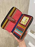 Женский кожаный кошелёк на молнии Trend красный КТ55, фото 6
