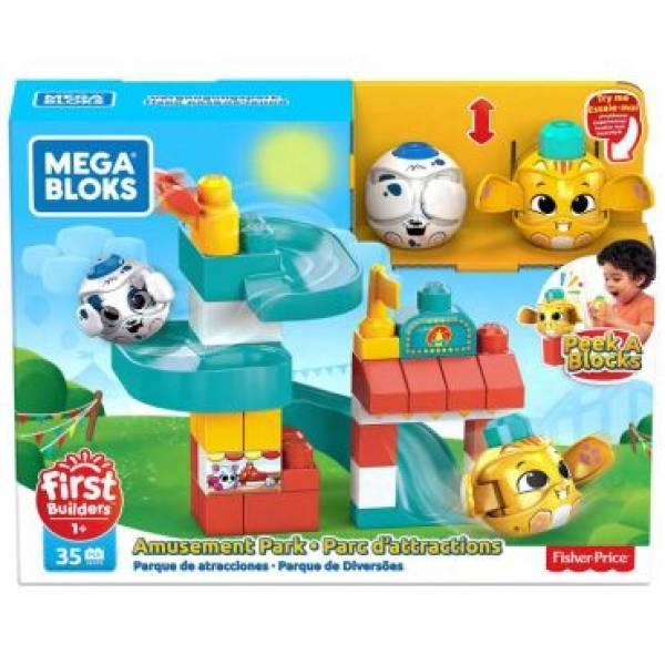 Mega Bloks First Builders Конструктор парк с аттракционами GKX70 Bricks Peek A Bloks amusement park