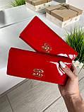 Женский лаковый кошелёк в стиле Шанель красный КШК77, фото 2