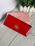 Женский лаковый кошелёк в стиле Шанель красный КШК77, фото 3