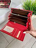 Женский лаковый кошелёк в стиле Шанель красный КШК77, фото 4