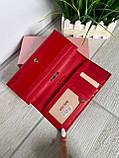 Женский лаковый кошелёк в стиле Шанель красный КШК77, фото 5