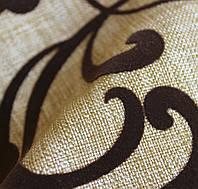Мебельная ткань рогожка флокированая FARGO