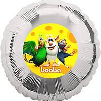 Наклейка на шарик Буба желтая 140 мм