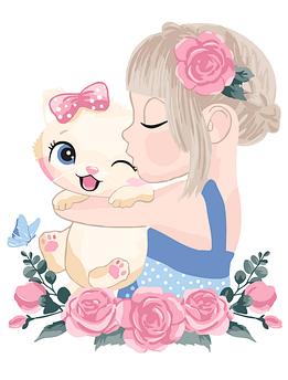 Картина по номерам Котёнок в объятиях BrushMe 30 x 40 см (MEX7122)