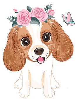 Картина по номерам Собачка в веночке BrushMe 30 x 40 см (MEX7115)