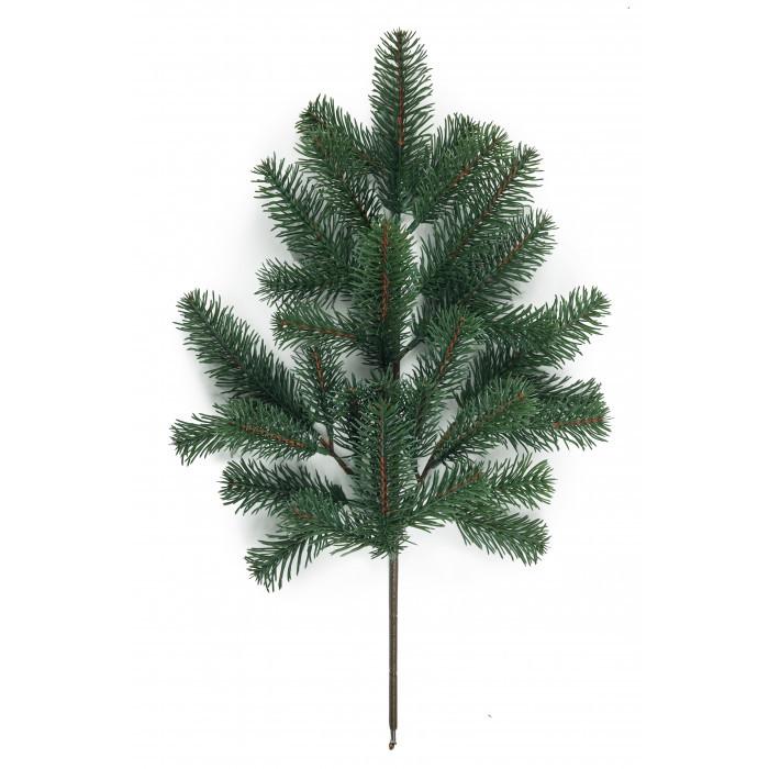 Декор еловая ветка из литой хвои (зелёная) Акция!