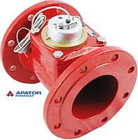 Водосчетчик Apator PoWoGaz MWN-130-125-NK (ГВ) с импульсным выходом турбинный Ду-125 сухоход промышленный