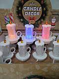 Свечи  светодиодные мерцающие  белые  перламутровые набор 12 шт, фото 6