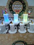 Свечи  светодиодные мерцающие  белые  перламутровые набор 12 шт, фото 8