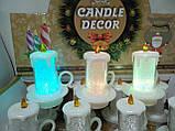 Свечи  светодиодные мерцающие  белые  перламутровые набор 12 шт, фото 9