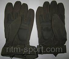 Рукавиці тактичні з закритими пальцями з посиленим протектором, фото 2