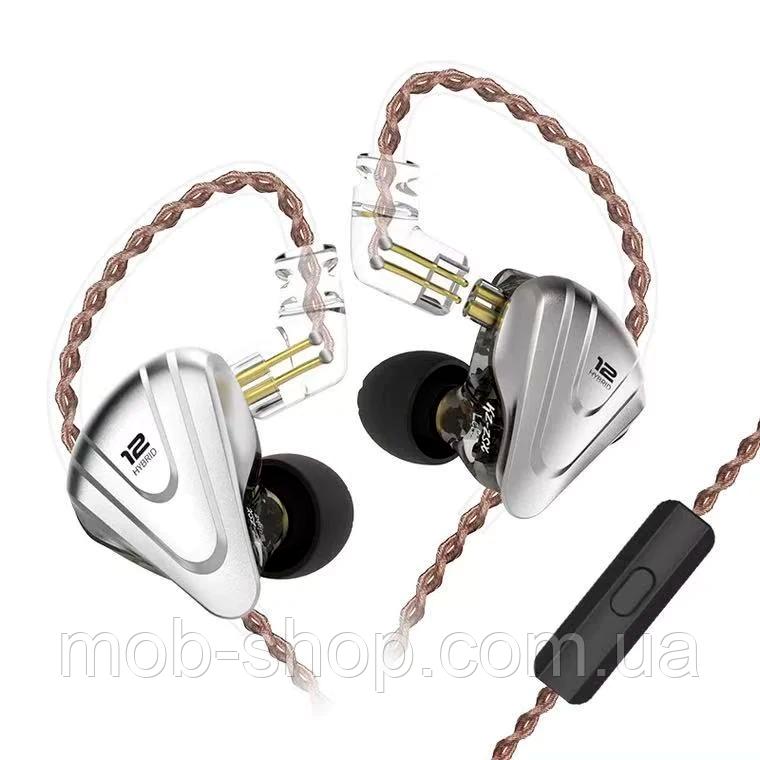 Дротові навушники KZ ZSX black гарнітура з мікрофоном