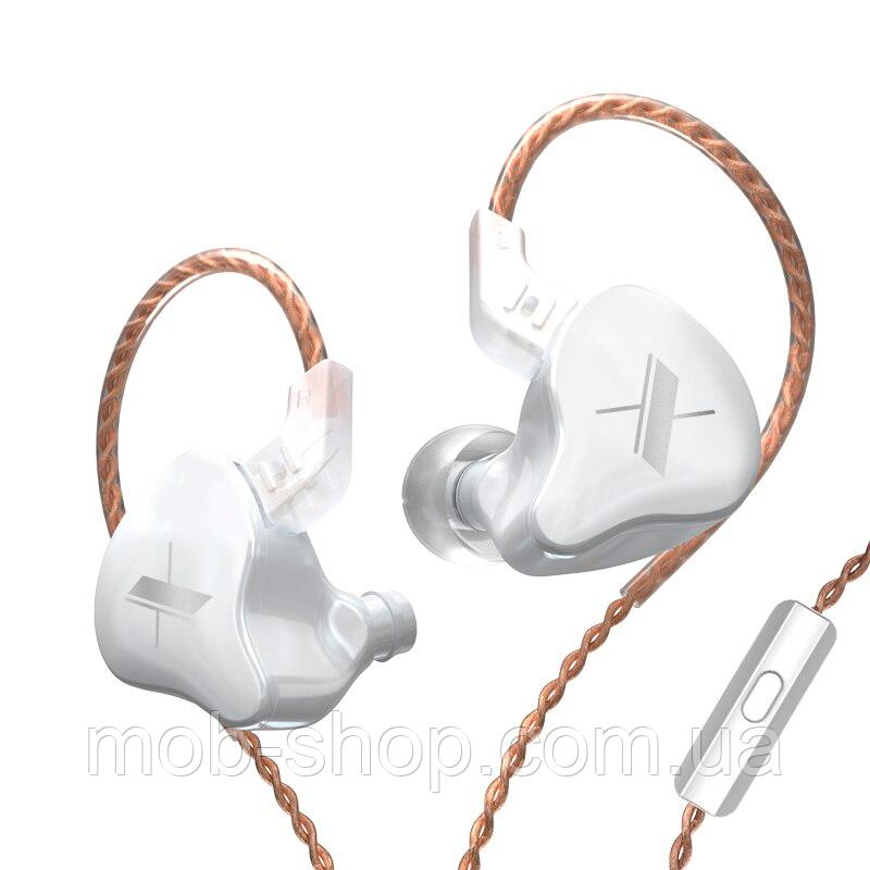 Наушники KZ ZS5 (EDX) с микрофоном white для музыки и звонков
