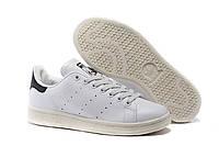 Женские кроссовки Adidas Stan Smith бело-черные, фото 1