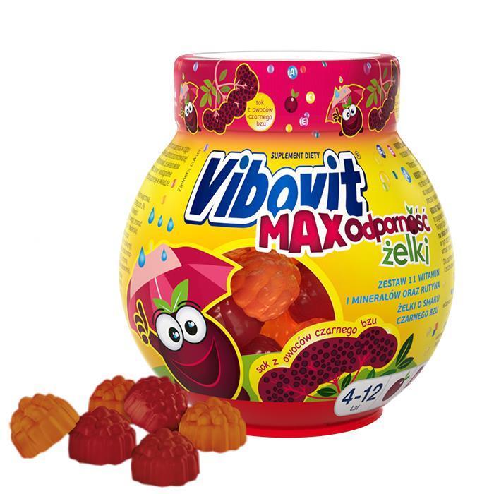 Витамины для детей иммуните Vibovit Max Вибовит вiтамiни для дiтей  Иммунитет витамины для детей желейки 50шт