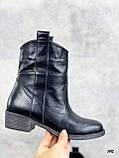 Женские ботинки черные ЗИМА натуральная кожа, фото 3