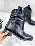 Женские ботинки черные ЗИМА натуральная кожа, фото 5